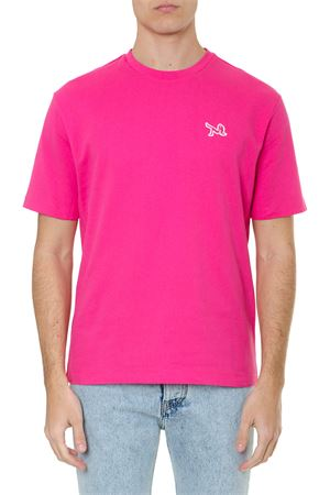 FUCHSIA COTTON T-SHIRT WITH ICONIC EMBROIDERY SS 2019 CALVIN KLEIN JEANS EST.1978 | 15 | J90J9001061500