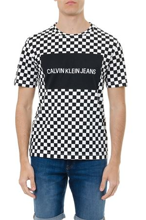 COTTON T SHIRT WITH CHESS PRINT SS 2019 CALVIN KLEIN | 15 | J30J312130UNI901