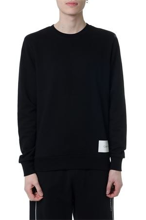 BLACK COTTON SWEATSHIRT WITH BACK GRAPHIC PRINT SS 2019 CALVIN KLEIN | 19 | K10K1029771013