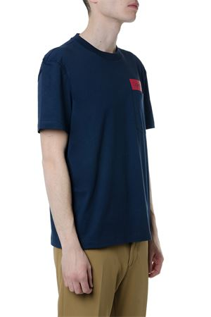NAVY COTTON T-SHIRT WITH CONTRASTING LOGO SS 2019 CALVIN KLEIN | 15 | K10K1030151484