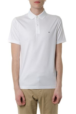 WHITE COTTON JERSEY POLO SHIRT SS 2019 CALVIN KLEIN | 11 | K10K103378UNI105