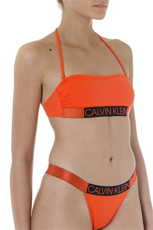ORANGE TOP BIKINI WITH LOGO SS 2019 CALVIN KLEIN | 29 | KW0KW00552UNI659