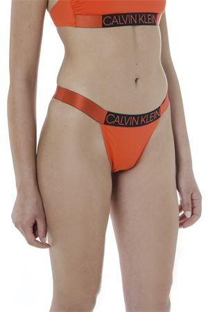 ORANGE AND BLACK LOGO SLIP BIKINI SS 2019