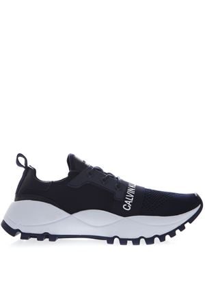 BLUE MESH SNEAKERS WITH LOGO STRAP SS19 CALVIN KLEIN | 55 | S0588UNINAVY