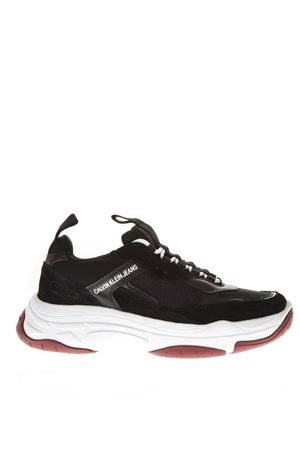 0a869b64a3e BLACK LEATHER CHUNKY SNEAKERS SS 2019 CALVIN KLEIN