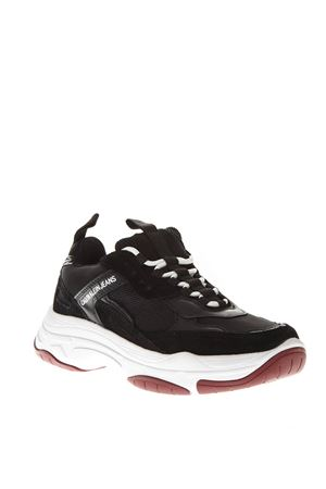 ef97f8bd5d8 ... S1770UNIBLACK BLACK LEATHER CHUNKY SNEAKERS SS 2019 CALVIN KLEIN