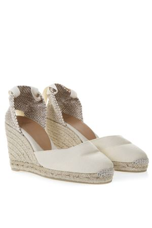 IVORY CARINA CANVAS ESADRILLE WEDGES SS 2019