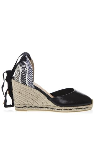 BLACK LEATHER CARINA ESPADRILLAS SS 2019 CASTANER | 144 | 021107CARINA100