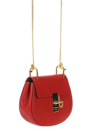 MINI DREW PLAID RED GRAINED NAPPA LEATHER BAG SS 2019 CHLOÉ | 2 | CHC14WS032944UNI640