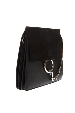 FAYE BLACK SHOULDER BAG IN LEATHER SS19 CHLOÉ | 2 | CHC17SS231H2OUNI001