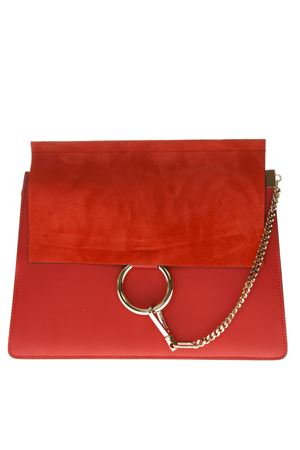 FAYE RED LEATHER SHOULDER BAG SS19 CHLOÉ | 2 | CHC17SS231H2OUNI640