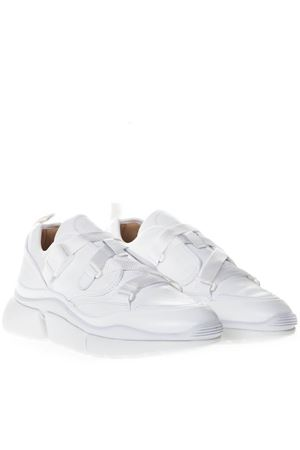 SONNIE WHITE  LEATHER & SUEDE SNEAKERS SS 2019 CHLOÉ | 55 | CHC19S05175UNI101