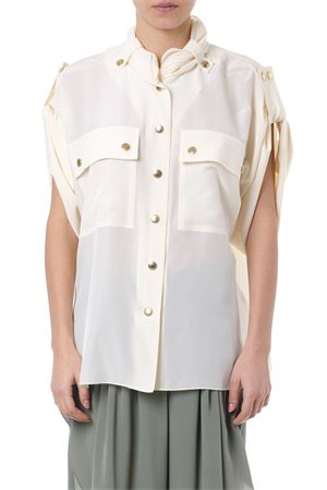 CREAM COLOR SILK SHIRT SS19 CHLOÉ | 9 | CHC19SHT12004UNI24U