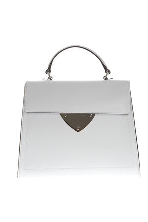 OPTICAL WHITE LEATHER SMALL TOTE BAG SS 2019 COCCINELLE | 2 | E1 D12 18 03 01DESIGNH10