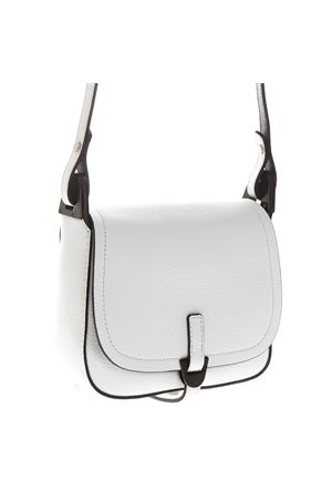 WHITE LEATHER CROSSBODY BAG WITH BLACK PIPING SS 2019 COCCINELLE | 2 | E1 DA0 55 01 01FAUVE760