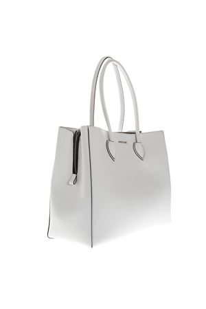 WHITE LEATHER SHOPPER BAG SS 2019 COCCINELLE | 2 | E1 DG5 11 01 01FARISAH10