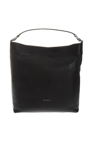 BLACK LEATHER SHOPPER BAG SS 2019 COCCINELLE | 2 | E1 DI0 13 01 01KEYLA001