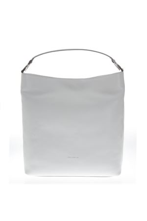 WHITE LEATHER SHOPPER BAG SS 2019 COCCINELLE | 2 | E1 DI0 13 01 01KEYLAH10