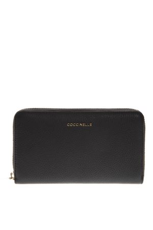 BLACK LOGO WALLET IN LEATHER SS 2019 COCCINELLE | 34 | E2 DW5 11 32 01METALLIC SOFT001