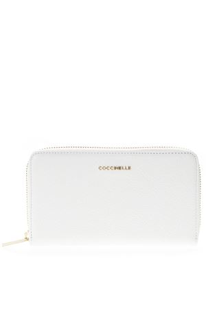 WHITE LOGO WALLET IN LEATHER SS 2019 COCCINELLE | 34 | E2 DW5 11 32 01METALLIC SOFTH10
