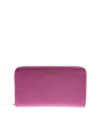 ULTRA VIOLET LOGO WALLET IN LEATHER SS 2019 COCCINELLE | 34 | E2 DW5 11 32 01METALLIC SOFTV02
