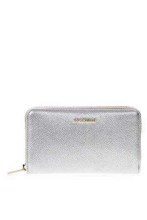LOGO WALLET IN SILVER LEATHER SS 2019 COCCINELLE | 34 | E2 DW5 11 32 01METALLIC SOFTY69