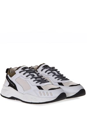 WHITE LEATHER & SUEDE SNEAKERS SS 2019 CRIME LONDON   55   11602110