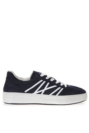 BLUE AND WHITE SNEAKERS IN NYLON AND SUEDE SS 2019 CRIME LONDON | 55 | 11356140