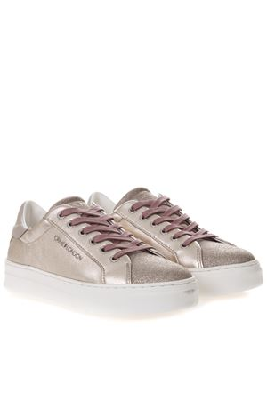 SNEAKERS PLATINO IN PELLE METALLIZZATA PE 2019 CRIME | 55 | 25600126