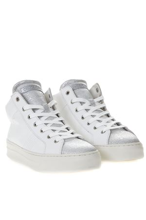 SNEAKERS ALTE BIANCHE E ARGENTO IN PELLE PE 2019 CRIME LONDON | 55 | 25682110