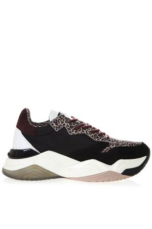 SNEAKERS MERCER CON DETTAGLI ANIMALIER IN PELLE SCAMOSCIATA PE19 CRIME LONDON | 55 | 25856120