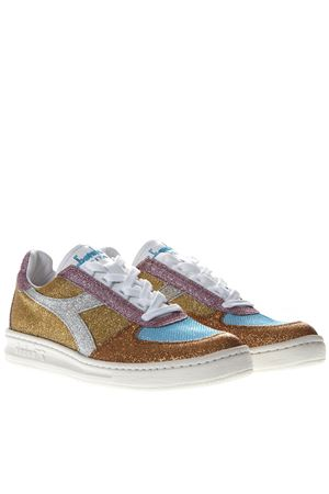 B ELITE H GLITTER MULTICOLOR LEATHER SNEAKERS SS 2019 DIADORA HERITAGE | 55 | 201.174752B.ELITE H GLITTER WORO VIVO