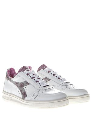 B ELITE H PAISLEY WHITE LEATHER SNEAKERS SS 2019 DIADORA | 55 | 201.174753B.ELITE H PAISLEYROSA LILLA SELVATICO