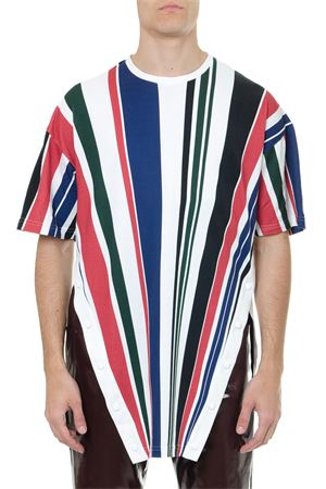 MULTICOLORED STRIPED COTTON T SHIRT SS 2019 GR UNIFORMA X DIESEL RED TAG | 15 | 00SU071C151