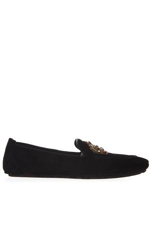 EMBELLISHED BLACK SUEDE LOAFERS SS 2019 DOLCE & GABBANA | 130 | A50280AK30280999