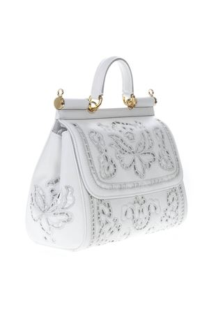 SICILY WHITE LEATHER EMBROIDERY BAG SS19 DOLCE & GABBANA | 2 | BB6002AT41480002