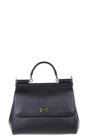 MISS SICILY BLACK DAUPHINE LEATHER BAG SS 2019 DOLCE & GABBANA | 2 | BB6235A100180999