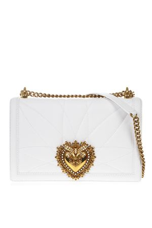 WHITE LARGE DEVOTION BAG IN QUILTED NAPPA LEATHER SS 2019 DOLCE & GABBANA | 2 | BB6651AV96780002