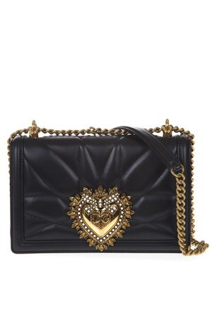 BORSA DEVOTION NERA MEDIA  IN NAPPA MATELASSÉ PE 2019 DOLCE & GABBANA | 2 | BB6652AV96780999