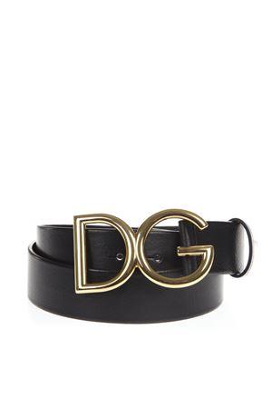 BLACK DG LEATHER GOLD BUCKLED BELT SS19 DOLCE & GABBANA | 12 | BC4245AI8948G929