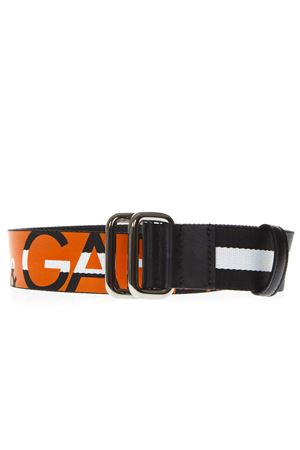 BLACK AND ORANGE LOGO BELT FW 2018 DOLCE & GABBANA | 12 | BC4267AZ95080244