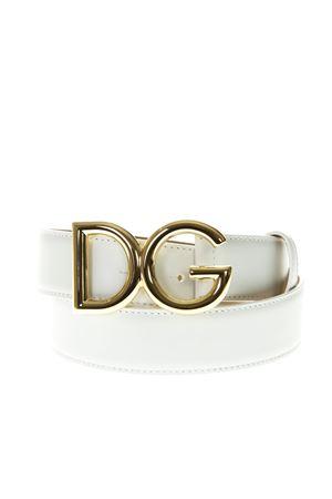 DG WHITE LEATHER BELT SS19 DOLCE & GABBANA | 12 | BE1324AZ8078N105