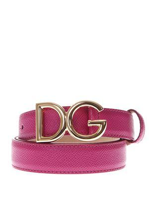 DG DARK PINK LEATHER BELT SS19 DOLCE & GABBANA | 12 | BE1325A100180411