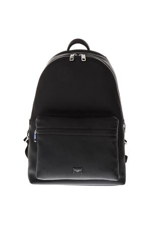 BLACK LEATHER BACKPACK SS19 DOLCE & GABBANA | 183 | BM1607AZ31980999