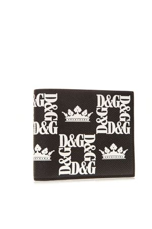 BLACK AND WHITE PRINTED LEATHER BILLFOLD WALLET SS 2019 DOLCE & GABBANA | 34 | BP1321AK443HNY47