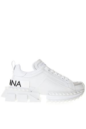 SNEAKERS SUPER KING IN PELLE BIANCA PE 2019 DOLCE & GABBANA | 55 | CK1649AZ67289642