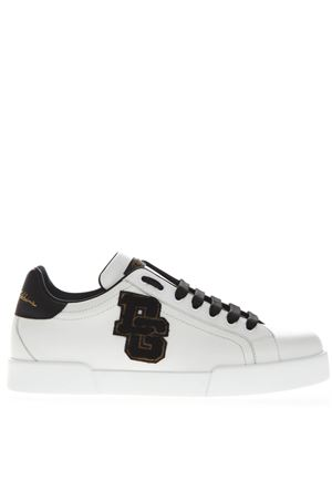 LEATHER SNEAKERS WHIT DG PATCH SS 2019 DOLCE & GABBANA | 55 | CS1558AH50489697