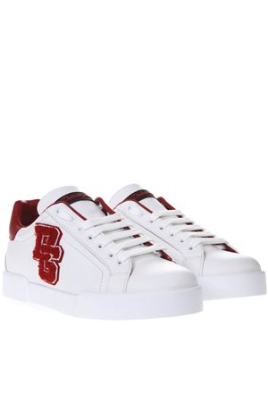 RED AND WHITE PORTOFINO SNEAKERS IN LEATHER SS 2019 DOLCE & GABBANA   55   CS1558AH50489926