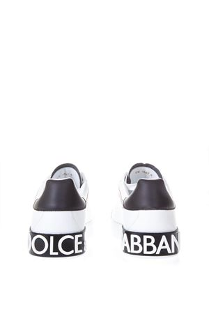 PORTOFINO WHITE & BLACK LEATHER SNEAKERS SS 2019 DOLCE & GABBANA | 55 | CS1587AH52689697