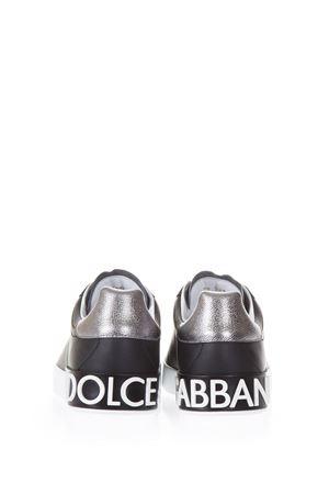 PORTOFINO BLACK SNEAKERS IN NAPPA CALFSKIN SS 2019 DOLCE & GABBANA | 55 | CS1587AH5278B979